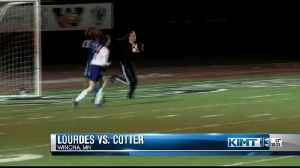 Lourdes narrowly escapes Cotter, advances to state [Video]