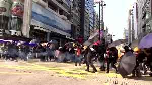 News video: Hong Kong police and protesters exchange tear gas and petrol bombs