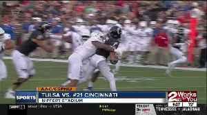 Tulsa Golden Hurricane fall to Cincinnati Bearcats, 24-13; 5 turnovers by QB Zach Smith [Video]