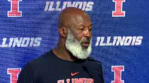 Illinois' Lovie Smith Speaks After Upset Win Over Wisconsin [Video]