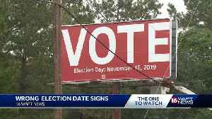 Billboard falsely advertise election day [Video]