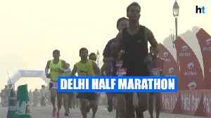Sports Minister Kiren Rijiju flags off 15th half marathon in Delhi [Video]