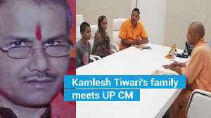 Kamlesh Tiwari's family meets CM Yogi, seek capital punishment for killers [Video]