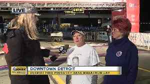 Warming up for the Detroit Free Press/TCF Bank Marathon [Video]