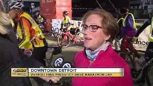 Overcoming obstacles at the Detroit Marathon [Video]