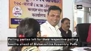 Maharashtra polls Polling parties leave for their polling booths ahead of voting [Video]