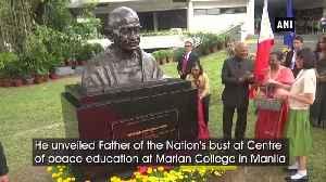 President Kovind unveils Mahatma Gandhi's bust in Manila [Video]