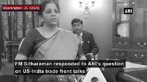 US-India trade deal Negotiations going in full speed deal witll be struck soon says FM Sitharaman [Video]