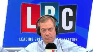News video: Nigel Farage Gets Into Heated Row With Remain Caller Over No-Deal Brexit