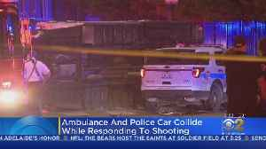 Ambulance And Police Car Crash Responding To Fatal Shooting In Homan Square [Video]