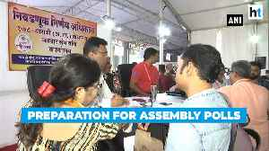 News video: Watch: Preparation & security arrangements for Maharashtra, Haryana polls