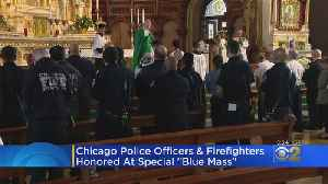 Chicago Police Officers, Firefighters Honored At 'Blue Mass' [Video]