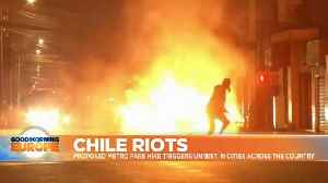 Fire and fury: Chile rocked by violent protests over metro fares [Video]
