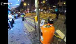 Hong Kong police clear street of blockades set up by protesters [Video]