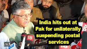 News video: India hits out at Pak for unilaterally suspending postal services