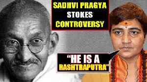 BJP MP Sadhvi Pragya calls Mahatama Gandhi 'Son of Nation', goes viral   OneIndia News [Video]