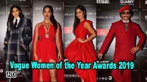 Vogue Women of the Year Awards | Katrina Kaif, Anushka Sharma dazzle on red carpet [Video]
