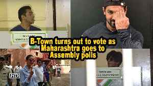 News video: B-Town turns out to vote as Maharashtra goes to Assembly polls