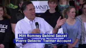 Mitt Romney Behind Secret 'Pierre Delecto' Twitter Account [Video]