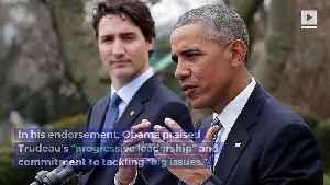 Barack Obama Endorses Justin Trudeau for Re-Election [Video]