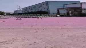 Pink Dust, Debris Rains Down In Chinese Chem Plant Blast [Video]