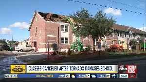 Classes canceled after tornado damages Kathleen Middle School [Video]