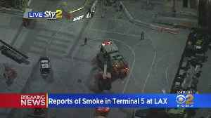 Smoke Reported Inside Terminal At LAX [Video]