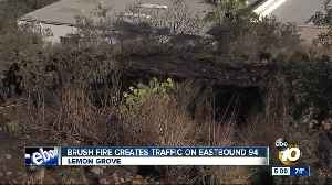 News video: Fire sparked off 94 freeway