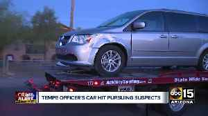 Tempe officer's car hit pursuing suspects [Video]