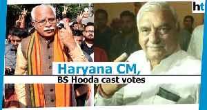 Haryana polls: CM Khattar, Bhupinder Singh Hooda, others cast their vote [Video]