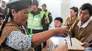Morales leads Bolivia vote for controversial fourth term [Video]