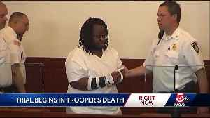 Man charged in trooper's death heads to court [Video]