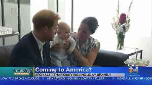 Trending: Royal Couple May Be Coming To America [Video]