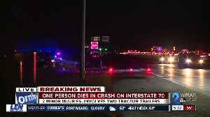Driver dies after traveling wrong way on I-70 east, colliding with two trucks [Video]