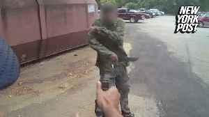 Maniac shot by police after brandishing machete [Video]