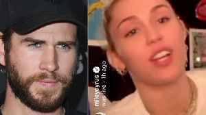 News video: Miley Cyrus SHADES Liam Hemsworth & Receives BACKLASH From LGBTQ Community For IG LIVE!