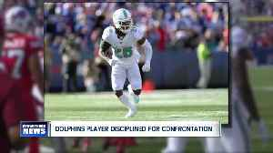 News video: Miami Dolphins player disciplined for confrontation