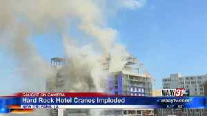 News video: Hard Rock Hotel Cranes Implode