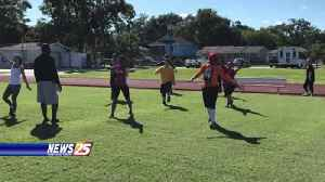 Women's football team holds tryouts [Video]