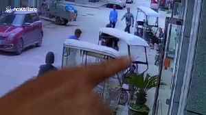 Heroic man stops speeding three-wheeler with toddler inside from hitting glass door in China [Video]