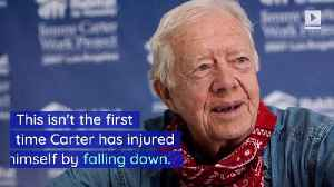 Jimmy Carter Hospitalized After Falling and Fracturing Pelvis [Video]
