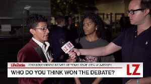 'Who Do You Think Won the Democratic Debate in Houston?' [Video]