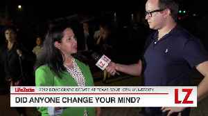 'Did Anyone Change Your Mind at the Democratic Debate in Houston?' [Video]