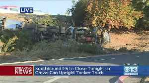 Southbound I-5 To Close Tonight So Crews Can Upright Tanker Truck [Video]