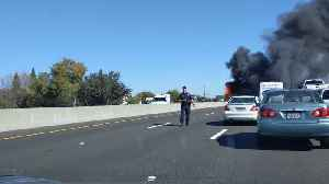Highway 50 At Bradshaw Truck Fire [Video]