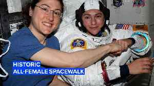 One giant leap for women: First all-female spacewalk [Video]