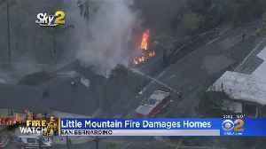 9 Homes Damaged In 17-Acre San Bernardino Brush Fire [Video]