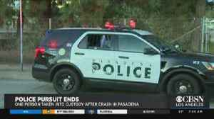 Pursuit With Burglary Suspects Comes To Crashing End In Pasadena [Video]