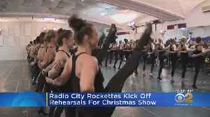 Radio City Rockettes Rehearsing For Christmas Spectacular [Video]