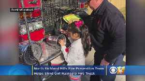 North Richland Hills Fire Prevention Team Helps Blind Girl Navigate Fire Truck [Video]